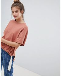 Pull&Bear - Organic Tee In Rust (join Life) - Lyst
