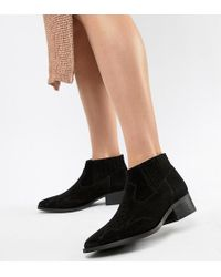 Vero Moda - Leather Boot - Lyst