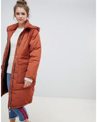 ONLY - Quilted Longline Padded Jacket - Lyst