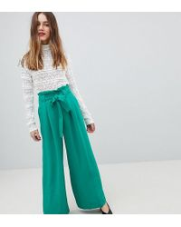 River Island - Belted Wide Leg Trousers - Lyst