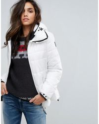 Replay | Padded Jacket With Hood | Lyst