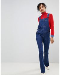 Pepe Jeans - Spider Kick Flare Dungaree's - Lyst