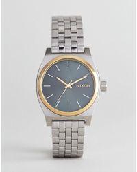 Nixon - A1130 Medium Time Teller Bracelet Watch In Silver - Lyst