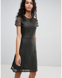 ONLY - Mystery Lace Skater Dress - Lyst