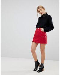 Miss Selfridge - Denim Mini Skirt - Lyst