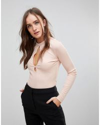 Finders Keepers - Huntr Keyhole Long Sleeved Top - Lyst