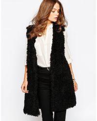 First & I - Teddybear Faux Fur Gilet - Lyst