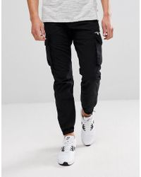 River Island - Cargo Pant In Black - Lyst