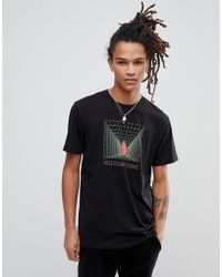 Volcom - T-shirt With Stone Maze Print - Lyst