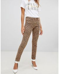 New Look - Hallie Leopard Print Jeans - Lyst