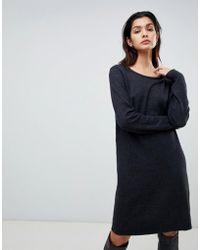 Vila - Knitted Jumper Dress - Lyst