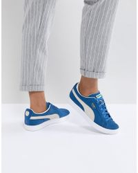PUMA - Suede Trainers In Blue - Lyst