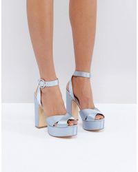 Office - Harley Satin Platform Sandals - Lyst