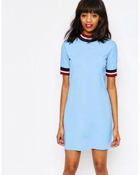 Monki - Contrast Striped Dress - Lyst