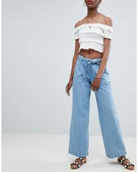 New Look - Wide Leg Jeans - Lyst