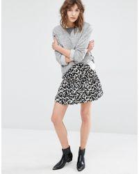 Suncoo - Fauve Ruffle Skirt In Print - Lyst