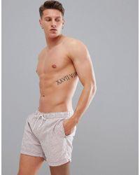 SELECTED - Seersucker Swim Shorts - Lyst