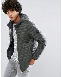 5ed3ac17a8a Clean Cut Copenhagen - Quilted Zip Through Down Harrington Jacket - Lyst