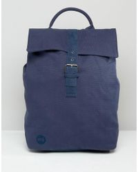 Mi-Pac - Canvas Fold Top Backpack In Navy - Lyst