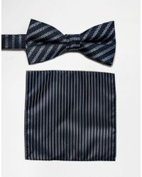 SELECTED - Bow Tie & Pocket Square Set - Lyst