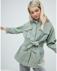 Monki - Military Pocket Jacket - Lyst