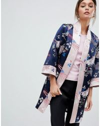 c7fa621b4 Ted Baker - Chinoiserie Jacquard Kimono Coat - Lyst