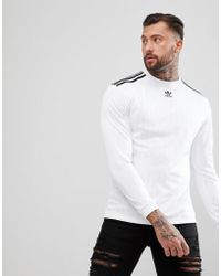 adidas Originals - Adicolor Long Sleeve Soccer Jersey In White Cw1225 - Lyst