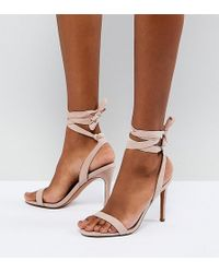 ASOS - Design Hatty Barely There Heeled Sandals - Lyst
