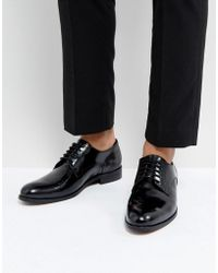 Dune - Derby Shoes In Hi Shine Black Leather - Lyst