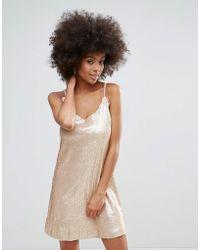 Darling - Racer Back Sequin Cami Dress - Lyst