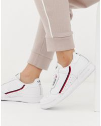 adidas Originals - Continental 80's Sneakers In Off White And Red - Lyst