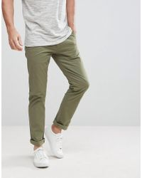 SELECTED - Regular Fit Chinos - Lyst