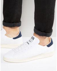 Adidas originali stan smith di formatori in bianco s75188 in bianco