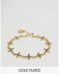 Pilgrim - Gold Plated Flower Gem Bracelet - Gold Plated - Lyst