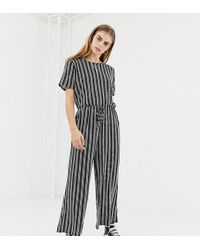 Daisy Street - Jumpsuit With Drawstring Waist In Stripe - Lyst