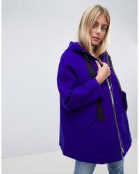 ASOS - Hooded Swing Coat - Lyst