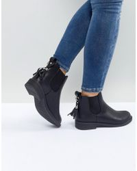Lost Ink - Black Tassel Detail Chelsea Boots - Lyst