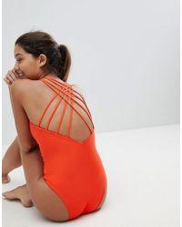 Y.A.S - Cross Back Swimsuit - Lyst