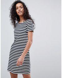 Vila - Stripe Short Sleeve Dress - Lyst