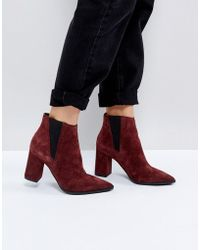 Pieces | Suede Ankle Boots | Lyst