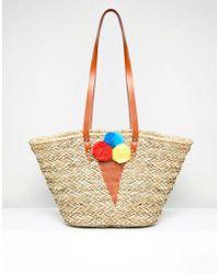 Vincent Pradier - Ice Cream Pom Pom Structured Beach Bags - Lyst