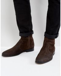 Frank Wright - Deconstructed Boots Brown Suede - Lyst