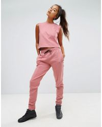 Reebok - Classics Tapered Sweat Trousers In Pink - Lyst