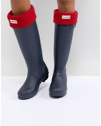 HUNTER - Original Red Tall Boot Socks - Lyst