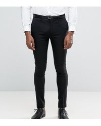 Only & Sons | Super Skinny Tuxedo Trousers | Lyst