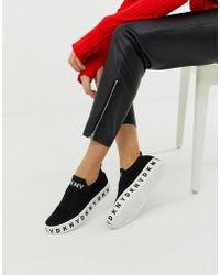 DKNY - Zapatillas sin cierres con plataforma y logo de - Lyst