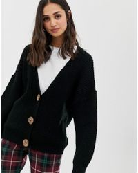 ASOS - Cardigan With Chunky Buttons - Lyst