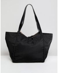 ASOS - Lightweight Shopper Bag With Double Compartments - Lyst