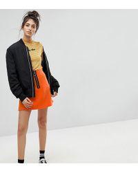 Reclaimed (vintage) - Inspired Contrast Zip Mini Skirt - Lyst