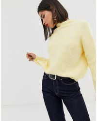 Mango - Oversized Jumper In Yellow - Lyst